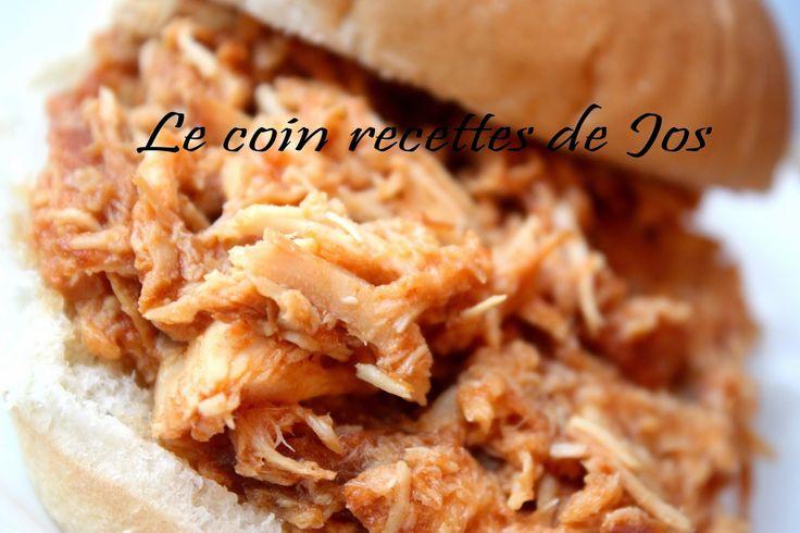 Le coin recettes de Jos: POULET EFFILOCHÉ À LA MIJOTEUSE