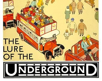 historic London underground poster III