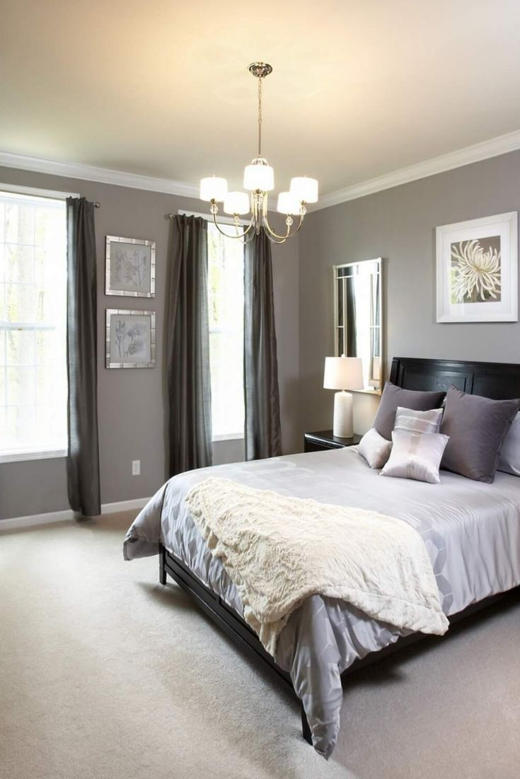light grey bedroom ideas  Gray bedroom walls, Bedroom paint