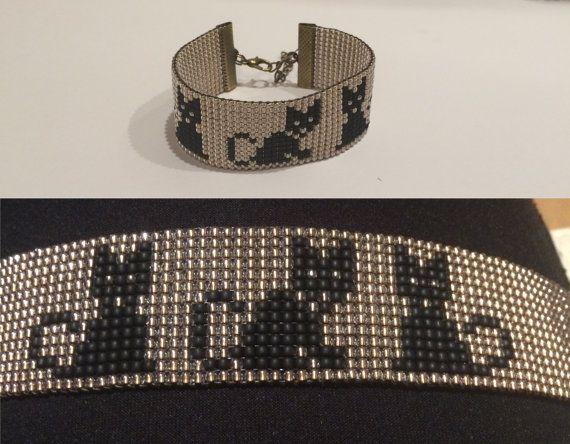 Deze armband is handgemaakt met liefde voor u, uw familie en vrienden. Deze armband is gemaakt met hoge kwaliteit Japaneese 11/0 TOHO Rocailles op nylondraad. Als u zou graag een kleur of die niet weergegeven (bijvoorbeeld - witte kat maat), message me vóór de aankoop. Breedte (W) armband: 2,5 cm/1 inch Lengte: u kunt kiezen (plus 2 inch - verstelbaar door middel van een verlenging-keten). Kid 12,7 cm/5 inches Volwassen kleine 15,3 cm/6 inch Volwassen standart 17,8 cm/7 inches Volwassen…
