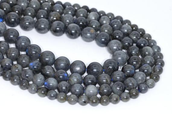 "8MM Genuine Natural Light Gray Labradorite Grade A Round Loose Beads 7.5/"""