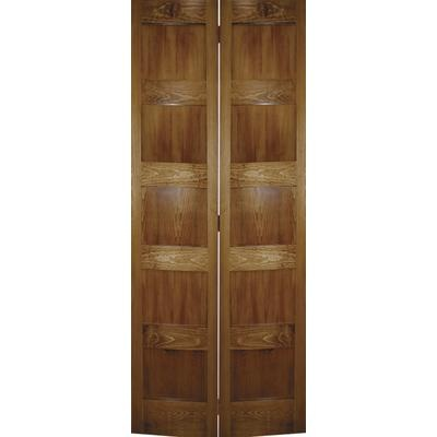Front hall closet.       Milette - 36x79 A Zen Designed 5 panel Shaker Bifold in Clear Pine - EPCI795HP3679 - Home Depot Canada