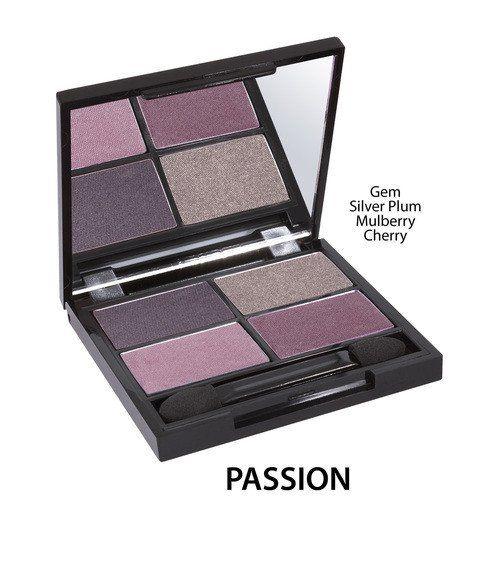 Certified Organic Quad Eyeshadow Palette - Passion