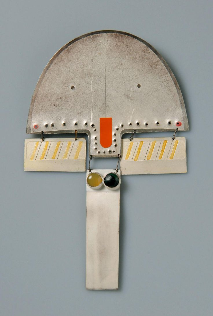 Anton Cepka, brooch, 1969, whitened silver, stones, laquer | Die Neue Sammlung – The International Design Museum Munich. Donated by Peter Skubic. Photo: A. Laurenzo