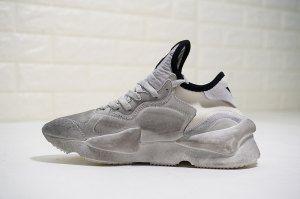2b89e977286e Mens Womens Adidas Y-3 Kaiwa Chunky Sneakers Distressed white black border  LOGO QS3180 Running