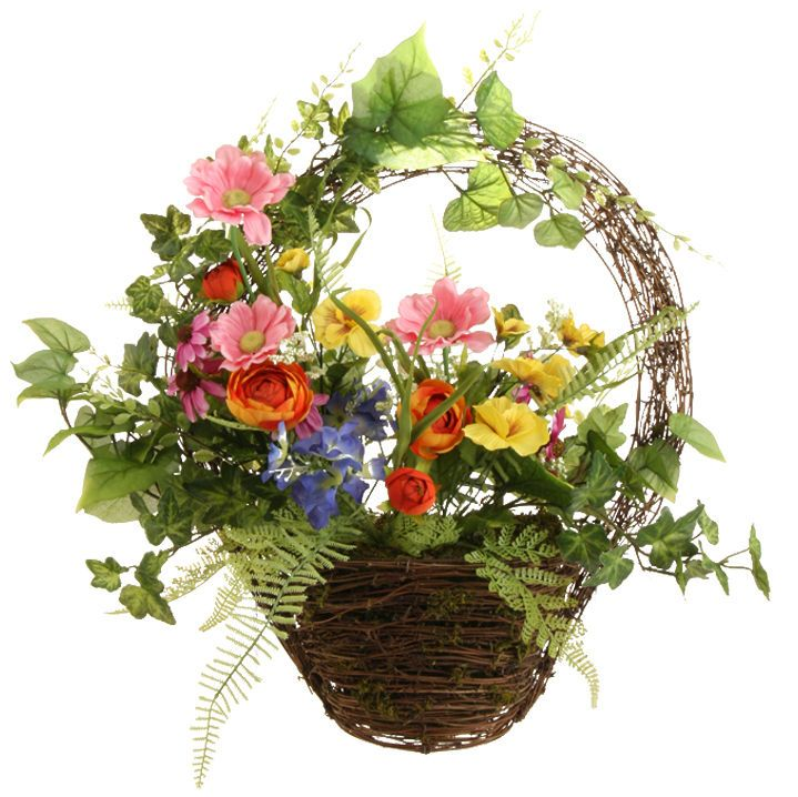 78 Best Images About Wall Baskets On Pinterest Floral