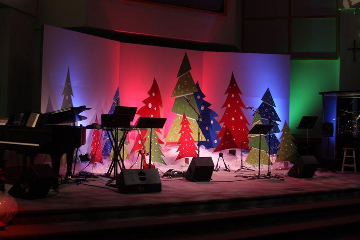 Church Christmas Decoration Ideas Photograph | Church Stage