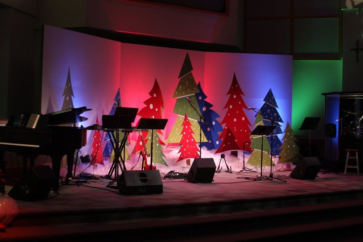 Church Christmas Decoration Ideas Photograph | Church Stage