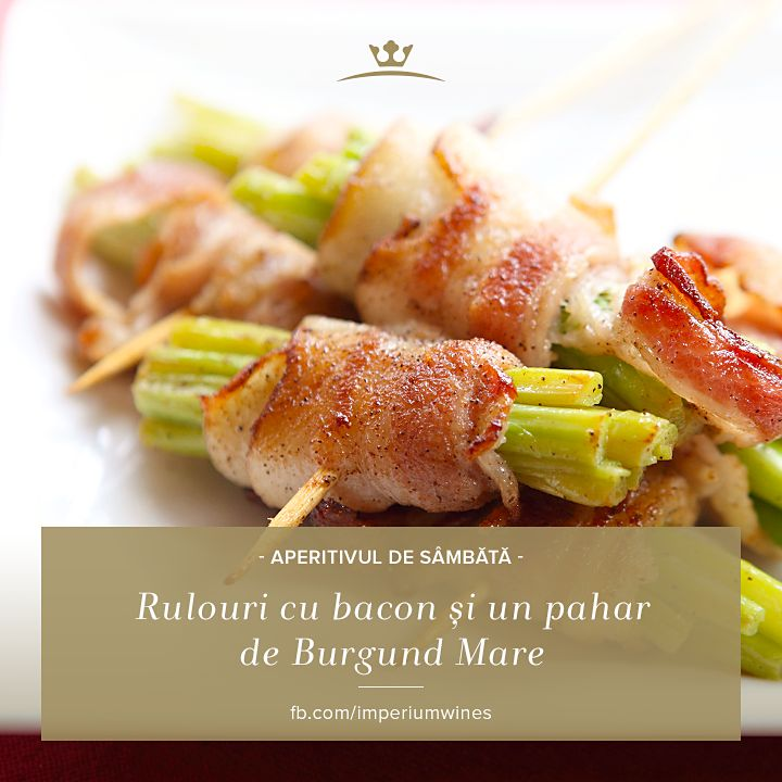 În weekend, nu ne gândim la calorii atât cât ne gândim la plăcerea gustului. O porție bună de rulouri cu bacon și un pahar cu vin roșu, care să înlesnească digestia, merg mână-n mână: http://rios.ro/imperium-burgund.html
