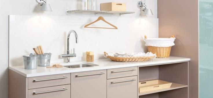 Tra cuines santos kitchen mobiliario l nea ariane de for Mobiliario lavadero