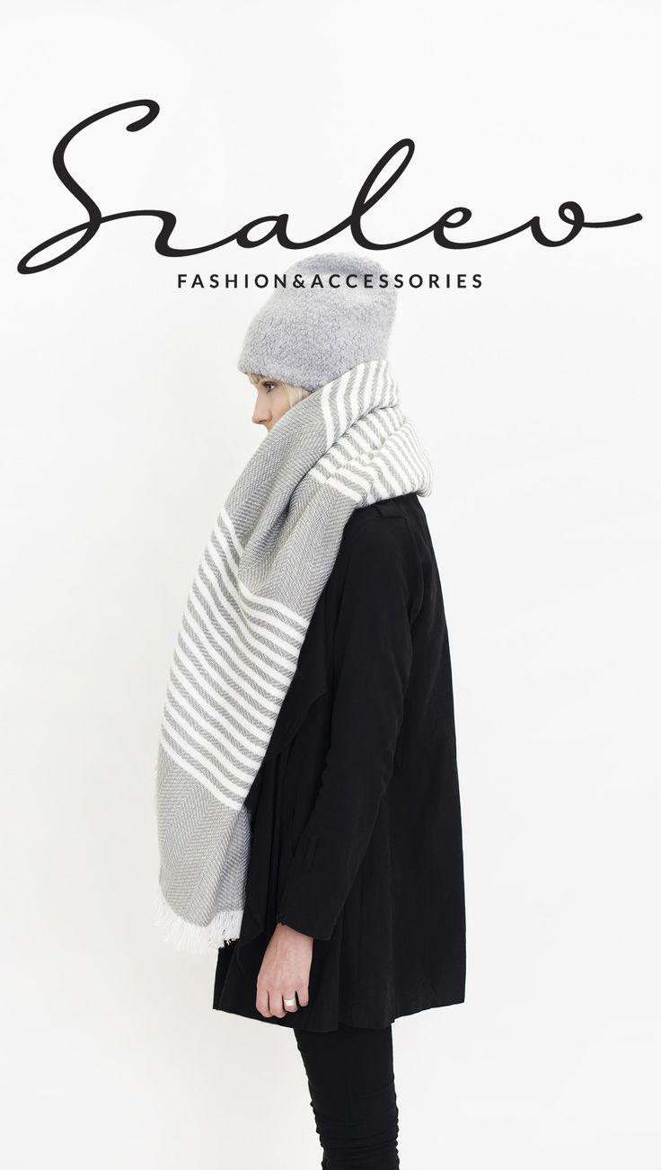 Huge & warm winter scarf. #scarf #grey Szaleo.pl | Fashion & Accessories