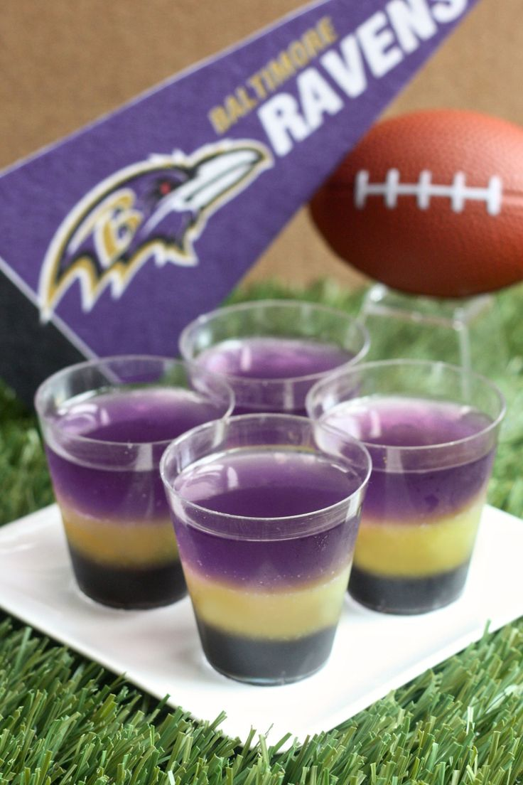 Best Baltimore Ravens Jell-O Shots Recipe-How to Make Baltimore Ravens Jell-O Shots-Delish.com