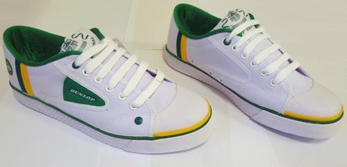 Dunlop Greenflash Mens Retro Stripe Trainers (WGY) | atomretro.com