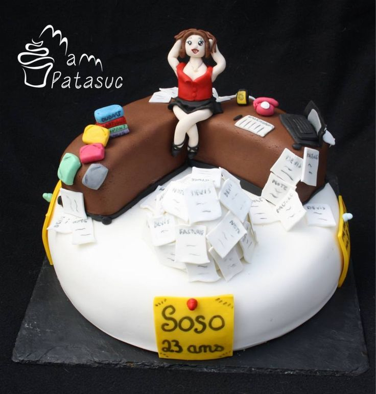 Cake Design Office : 1000+ images about Receptionist/secretary cake on ...