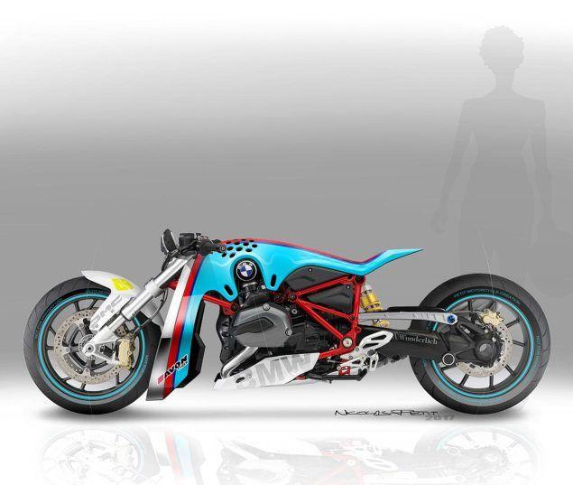 BMW R1200R Drag Bike by Nicolas Petit