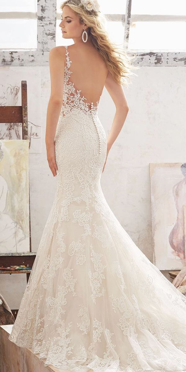 31 best gorgeous wedding dresses images on pinterest for Best lace wedding dresses