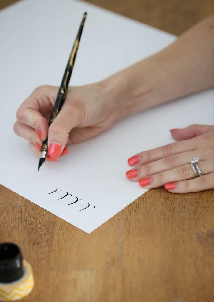 42 Best Calligraphy Flourish Images On Pinterest Brush
