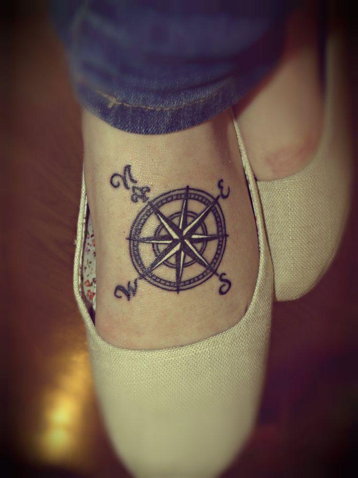 feminine compass tattoo - Google Search