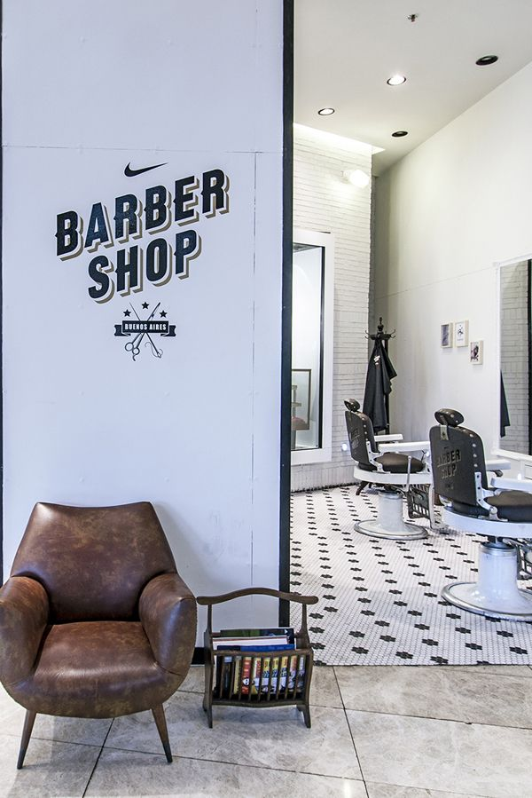 Nike FFF + The Nike Barber Shop by Forset, via Behance