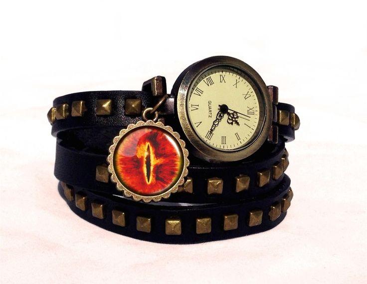 Leather watch bracelet - Sauron eye, 0189WBBC from EgginEgg by DaWanda.com