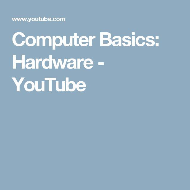 Computer Basics: Hardware - YouTube