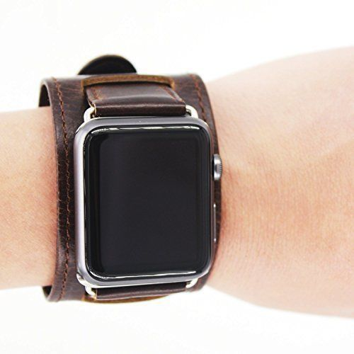 Watch Band for Apple 42mm Genuine Leather iWatch Replacement Strap Metal Clasp #WatchBandforiWatch42mm