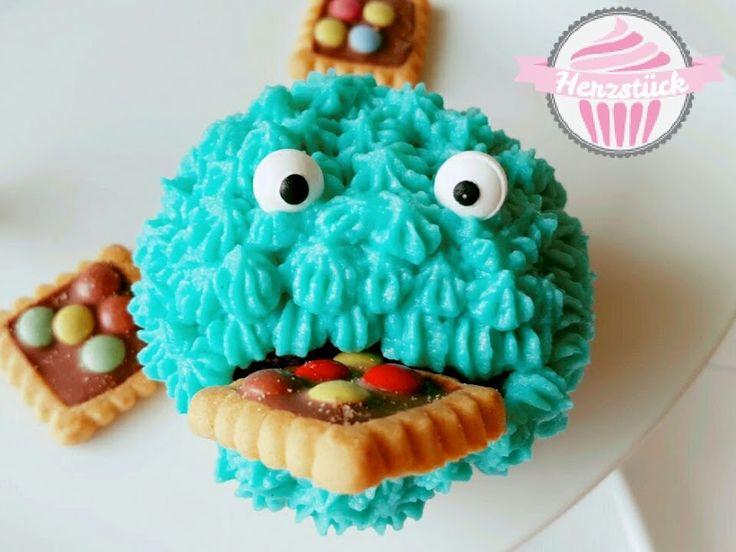Krümelmonster-Cupcake