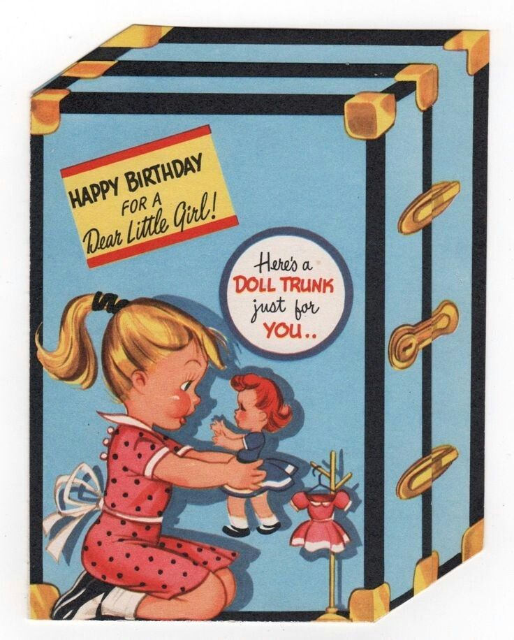 Uncut Special Girl Paper Doll Greeting Card by Tom Tierney 1996 Unused