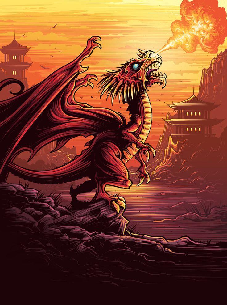 Dan mumford pottermore dragons dan mumford