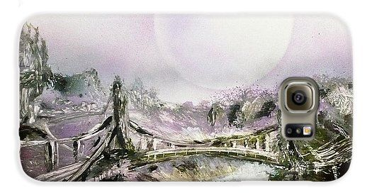 Bridge Of Spirits Galaxy S6 Case Printed with Fine Art spray painting image Bridge Of Spirits by Nandor Molnar (When you visit the Shop, change the orientation, background color and image size as you wish)