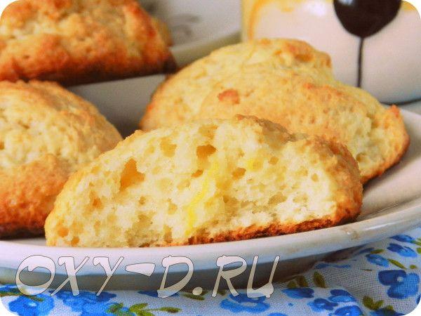 Пышное творожно-лимонное печенье