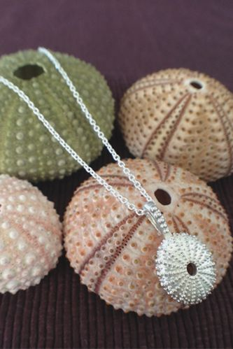 Silver Sea Urchin Pendant by India Hicks. I love this.