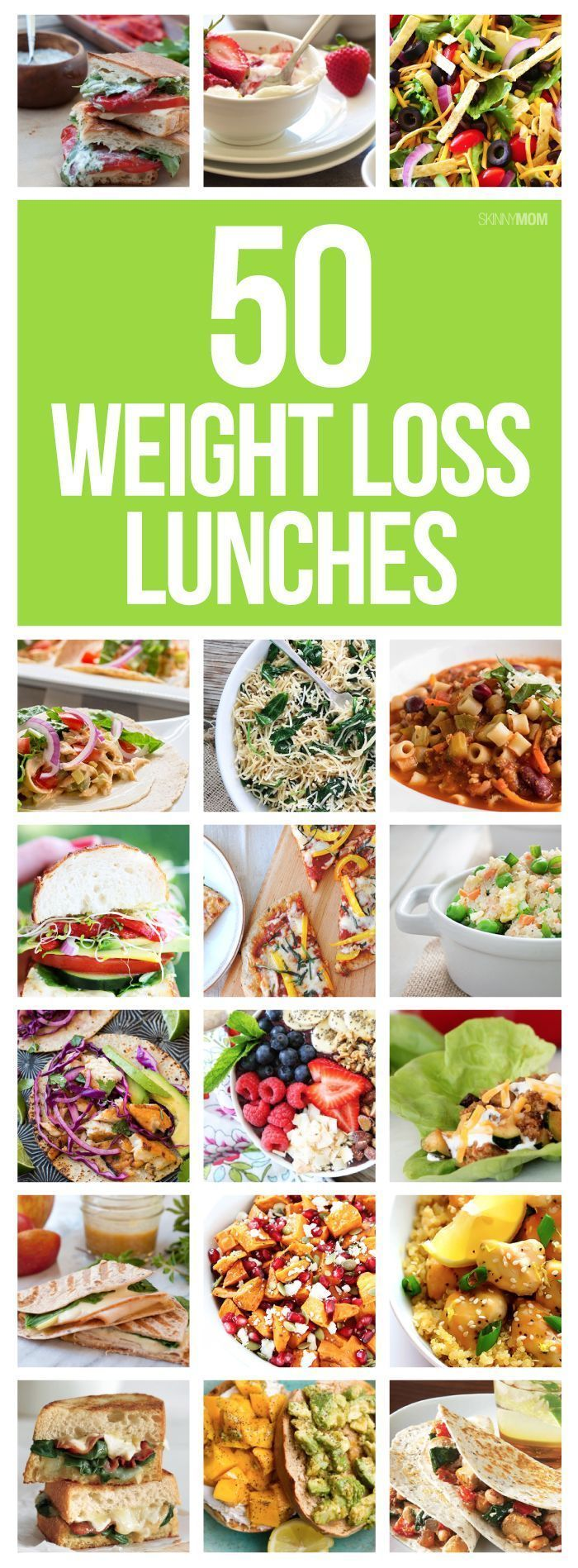 50 healthy lunches to help you LOSE WEIGHT! They are even meal prep friendly!