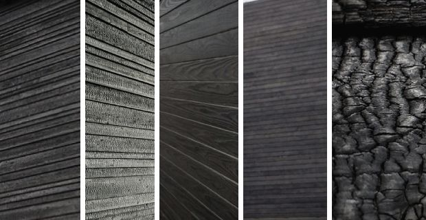 Shou Sugi Ban. A Japanese exterior siding technique that preserves wood by charring it. The final product is a gorgeous, rich, silvery finish.
