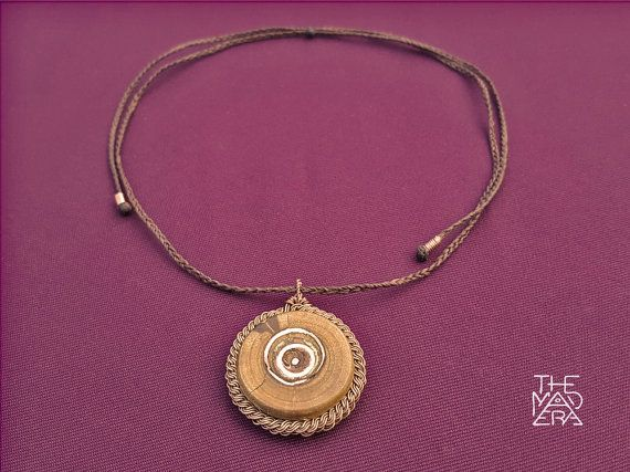Palo Santo Copper-Set Necklace Inlaid Copper circles