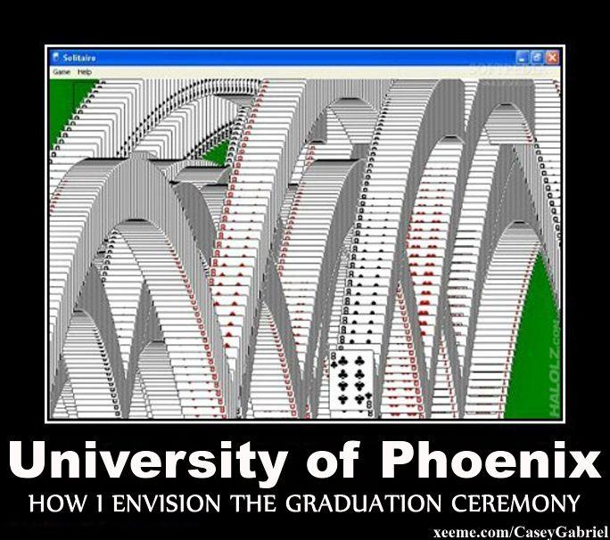 University Of Phoenix Online Graduation Ceremony Humor Funny