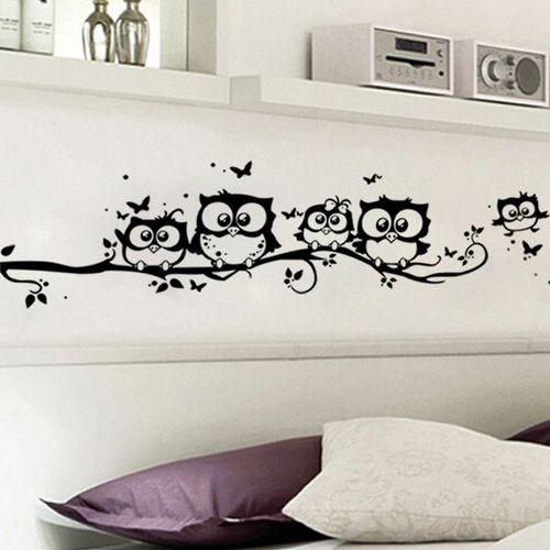 5 Owls Cartoon Wall Sticker Vinyl Wallpaper Art Mural Home Decal for Kids…