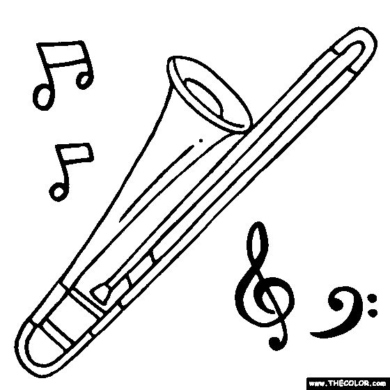 17 best images about embroidery music on pinterest for Clarinet coloring page