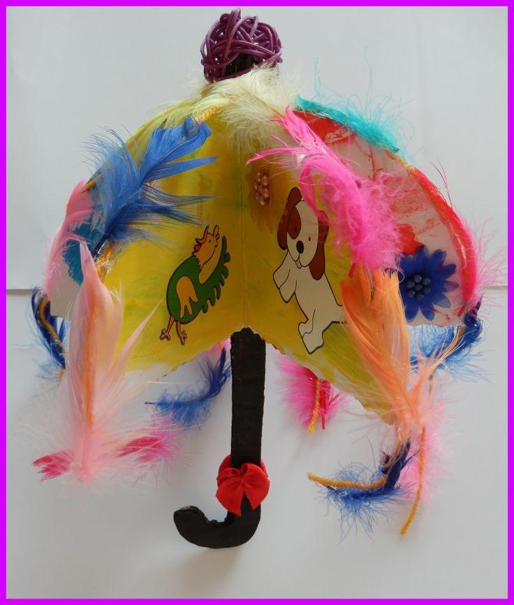 Parapluie à plumes