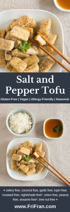Light, crisp, delicious Salt and Pepper Tofu is just like your favourite restaurant! Gluten-Free | Vegan | Allergy-Friendly | Seasonal and... + celery free, coconut free, garlic free, lupin free, mustard free, nightshade free, onion free, peanut free, sesame free*, tree nut free +