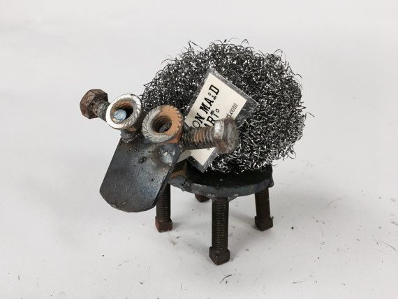 Steel Wool Sheep - Woolly Scrap Metal Sheep