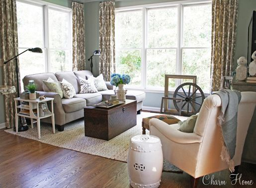 Clean cottage comfort sitting room by cristi holcombe for Beautiful sitting rooms