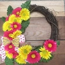 Daisy Grapevine Wreath Daisy Wreath Daisy Vine Wreath Vine