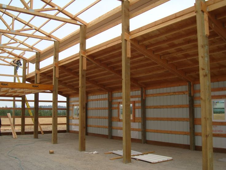 Best 25 pole barn construction ideas on pinterest pole for Free barn plans with loft
