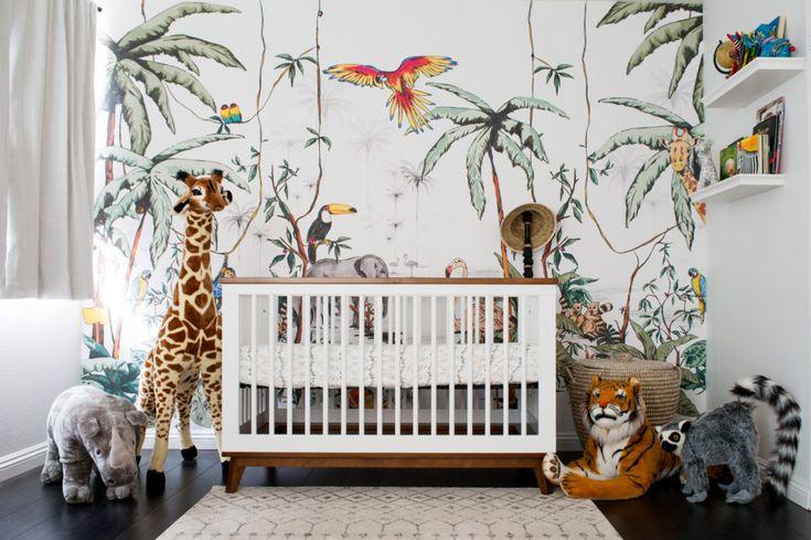 Eine bunte Dschungelsafari-Kindertagesstätte