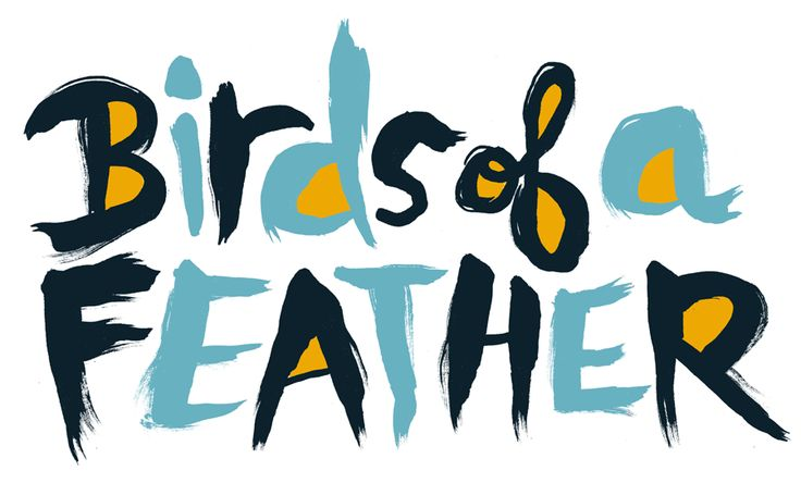 Birds of a Feather by Nate WilliamsDelicious Typography, Lettering, Art, Hands Letters, Nate Williams, Birds Songs, Handmade Types, Handmade Letters, Feathers