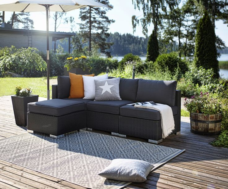 die besten 25 polyrattan sofa ideen auf pinterest palettenb den babybeistellbett und. Black Bedroom Furniture Sets. Home Design Ideas