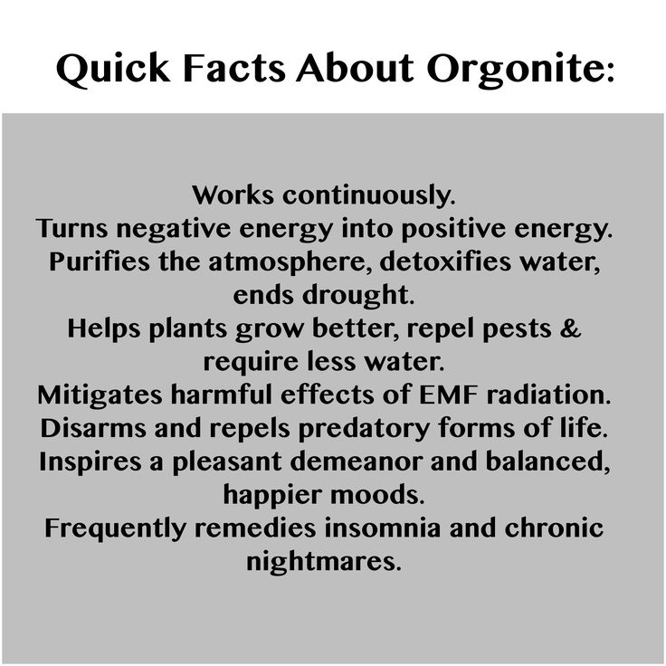 Quick facts about orgonite