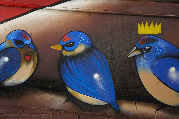 Urban art at the Adelaide Central Market, South Australia.