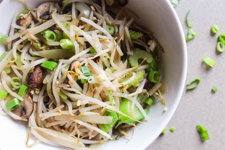 Bean Sprouts Stir Fry (Chow Mein) My guilty pleasure used to be ordering a yummy pizza but I really don't like takeout pizza as much as my homemade pizza (shameless plug) anymore, so what to do? Well, Mike LOVES Chinese takeout so now I find myself studying the Chinese menu and trying to figure out how to make it healthier!! I love the chow mein! I call it the bean sprouts thingy and it never fails to satisfy. After I made this dish I asked Mike to taste test it and he said it's just as…